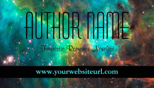 futuristic or sci fi author business card template1