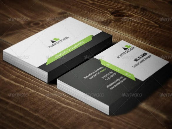 clean corporate business card template psd1