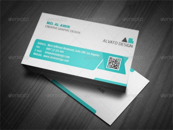 white clean creative business card template psd