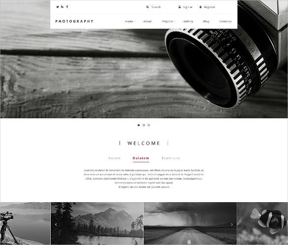 responsive photography drupal template