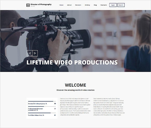 photography director drupal theme