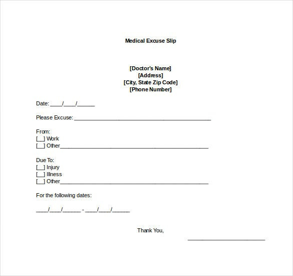 Doctors Note Word Format Free Download. Return To Work Doctors