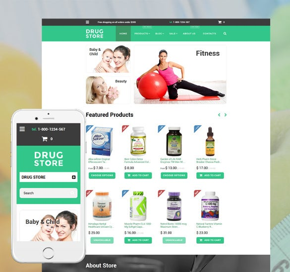 drug store shopify blog theme