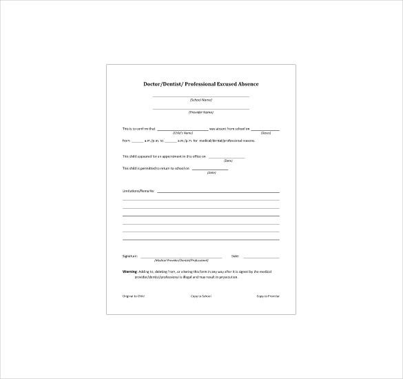 8+ Doctor Note Templates - Free Sample, Example, Indesign ...
