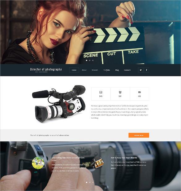 director of photography wordpress blog theme