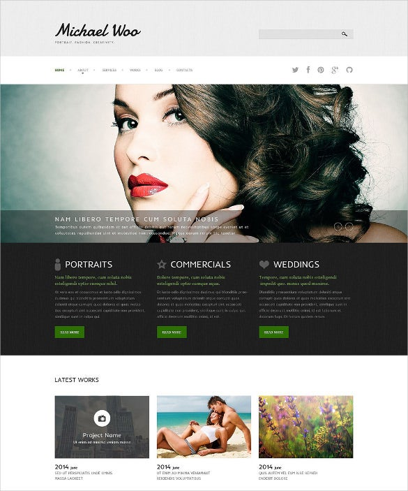 photography portfolio joomla blog theme