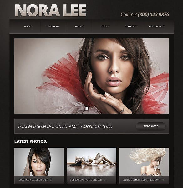 dark background photography joomla blog template