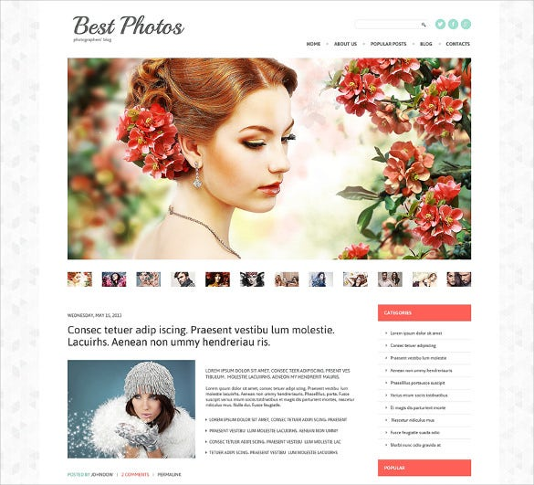 photo album photography wordpress blog theme