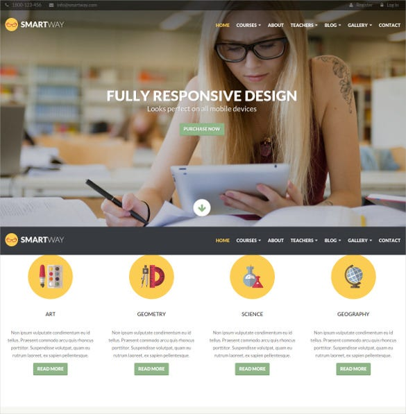 learning courses wordpress blog theme