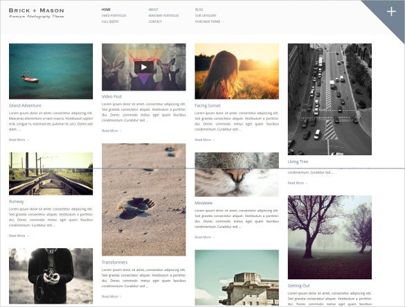 simple photography blog theme