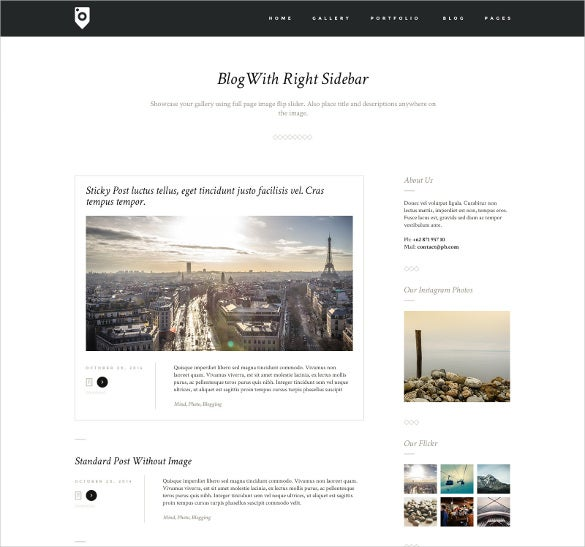 photography portfolio blog template