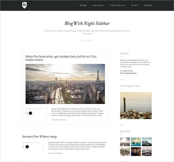 photography portfolio blog template