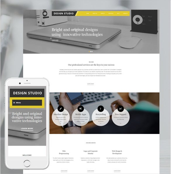 design studio wordpress blog theme
