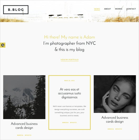 splendidi photography blog template