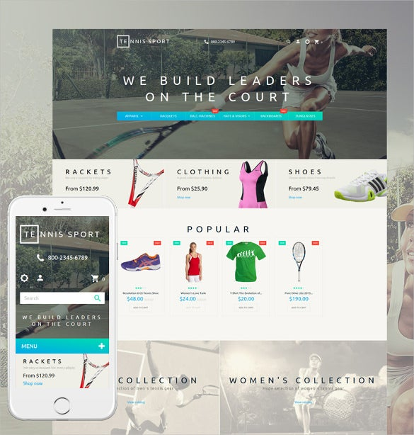 tennis responsive prestashop blog theme