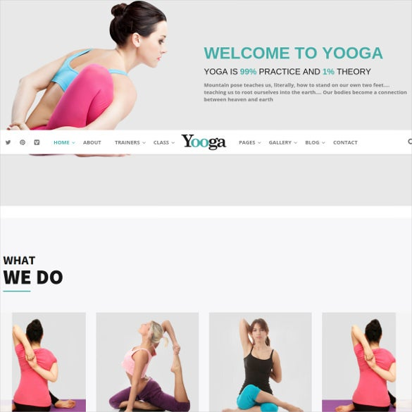 modern health yoga html blog template
