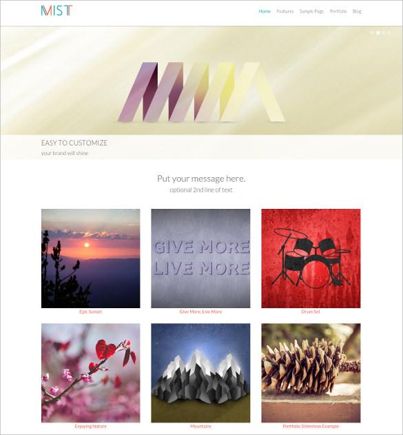 responsive photography wordpress blog theme