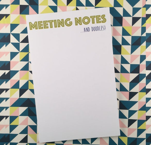 example of a meeting note template download
