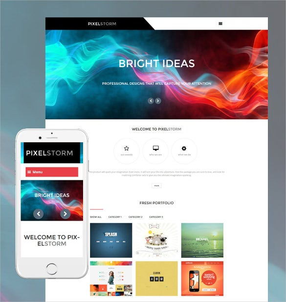 pixel storm wordpress blog theme