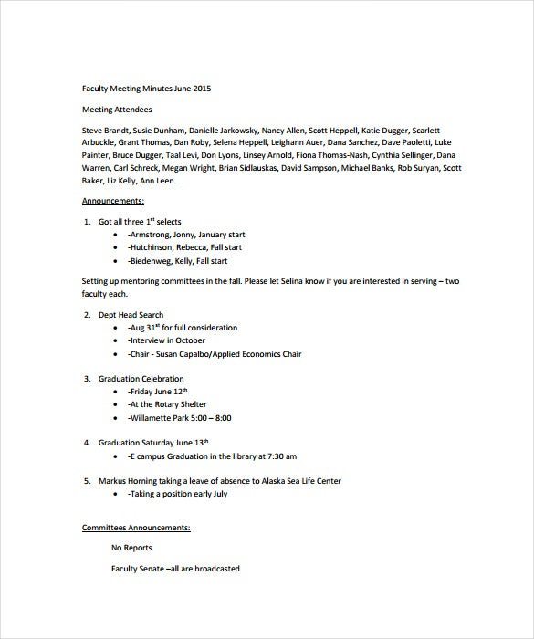 Meeting Note Templates  Free Sample Example Format Download