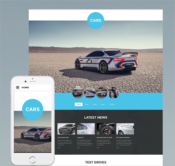 car club website html5 template