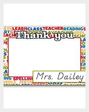 12-Flat-Teacher-Thank-You-Notes