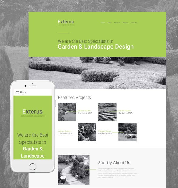 exterus website html5 template