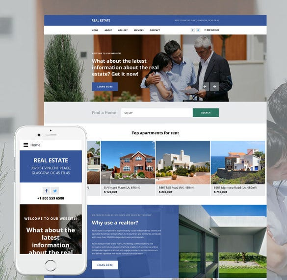 real estate agency html5 template
