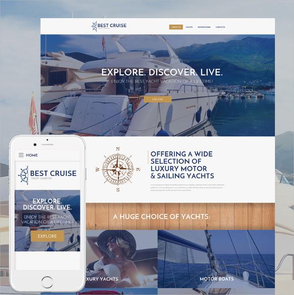 yacht charter html5 template
