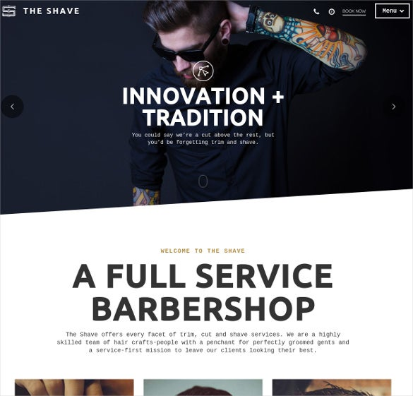 barbershop clean cut html5 template