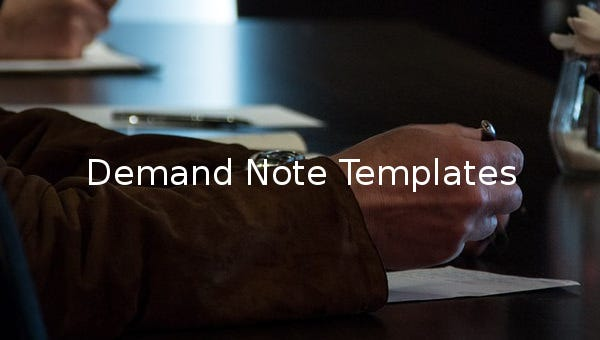 demand note templates