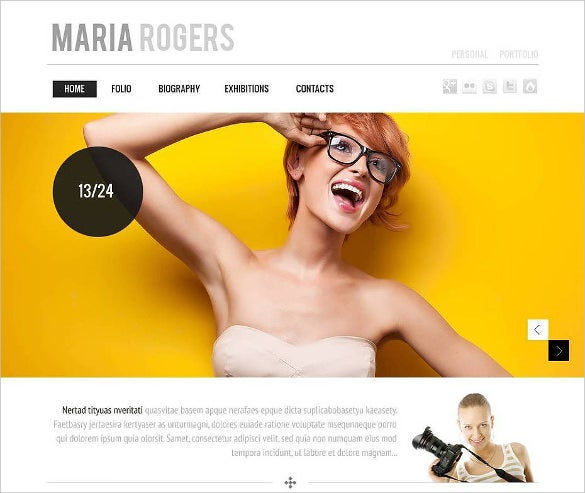 responsive photography website theme
