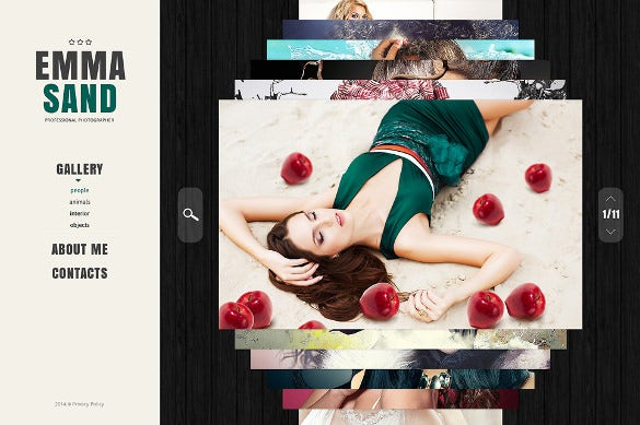 stylish photography website template