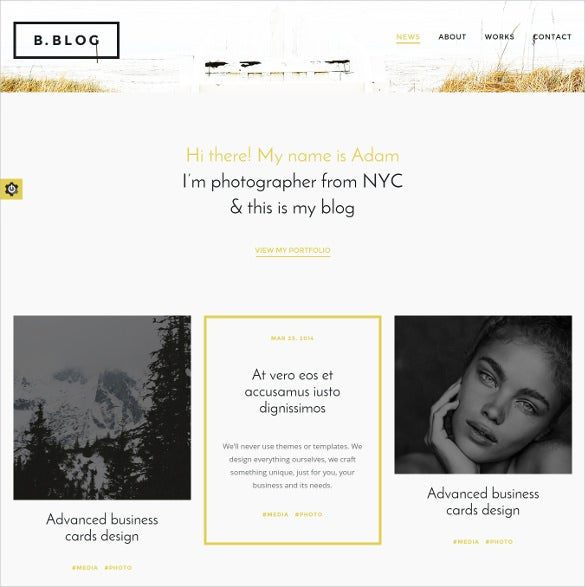 photography wordpress website theme