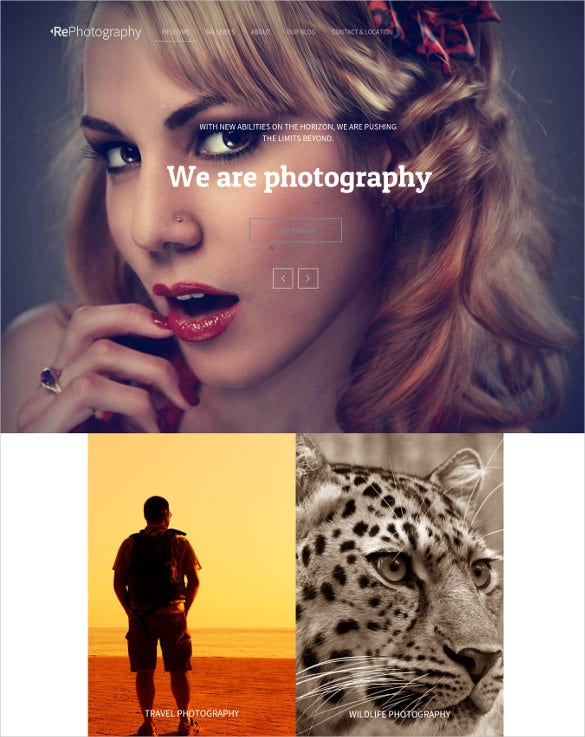 responsaive photography muse template