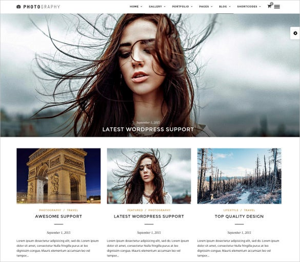 beautiful photography wordpress website theme