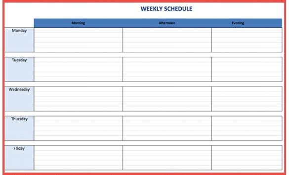 How to Create a Weekly Schedule in Excel – Tutorial | Free ...
