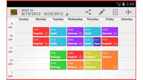 creating a college class schedule
