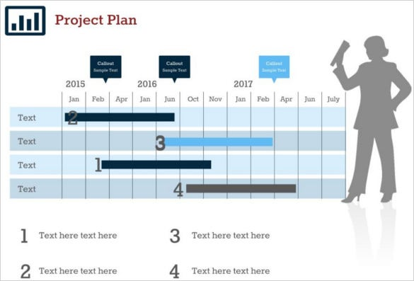 project plan 5 google slides template ppt download