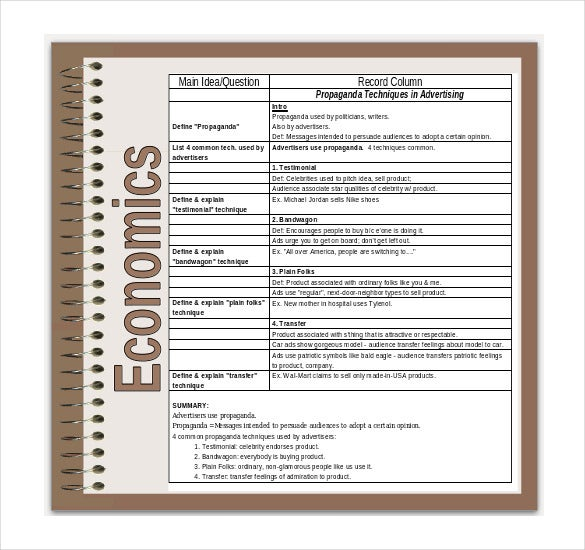 cornell notes powerpoint for high school students