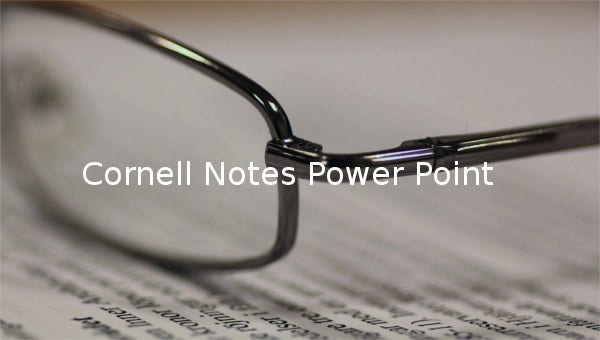 cornell notes power point