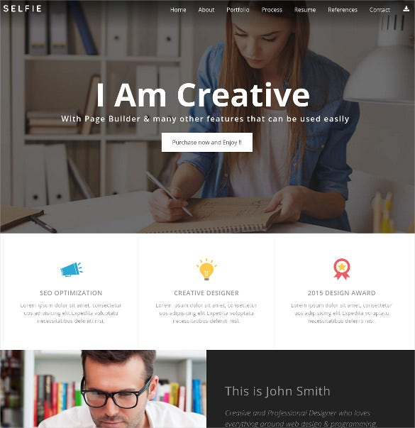 personal vcard portfolio wordpress theme
