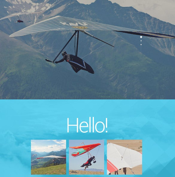 hang gliding portfolio wordpress theme