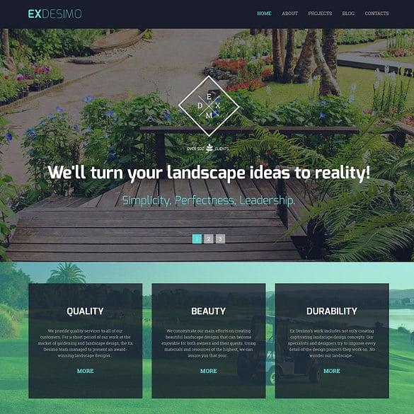 exdesimo portfolio drupal template