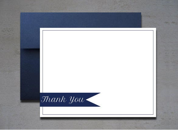 modern thankyou naote card example template