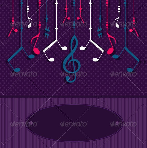 sample musical note greeting card template download