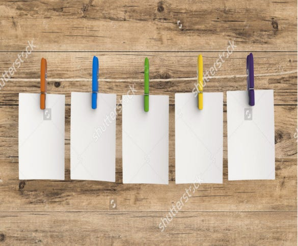 wooden background note card example template download