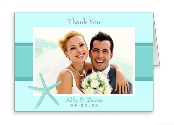 wedding format thank you note card template