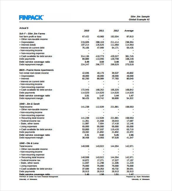 Cash Flow Analysis Templates   Free Word  Format Download