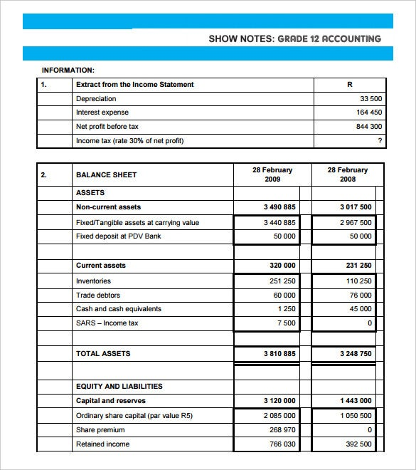 Cash Flow Analysis Templates   Free Word Pdf Format Download
